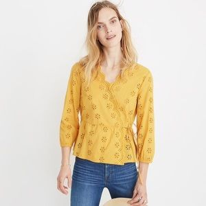 MADEWELL scalloped eyelet top